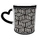 Patrón de cubo de rayas geométricas sin costura Taza de café de cerámica Relleno de calcetín de regalo de Navidad