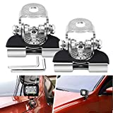 Universal LED Light Bar Mounting Brackets A Pillar Hood Work Light Clamp Holder Mount 304 Stainless Steel for Car Offroad Jeep Truck SUV 4x4 2PCS