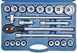 SW-Stahl 07660L Steckschlüsslsatz I 21-teilig I 3/4 Zoll I Werkzeugkoffer Industriequalität