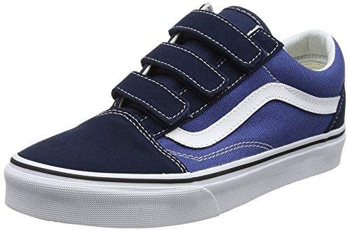 Vans Unisex Adults' Old Skool V Trainers, Blue(Dress Blues/True Navy(Suede/Canvas)), 4 UK 36.5 EU