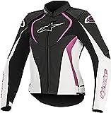 Alpinestars Jaws Air Women's Street Motorcycle Jackets - Black/White/Pink / 40