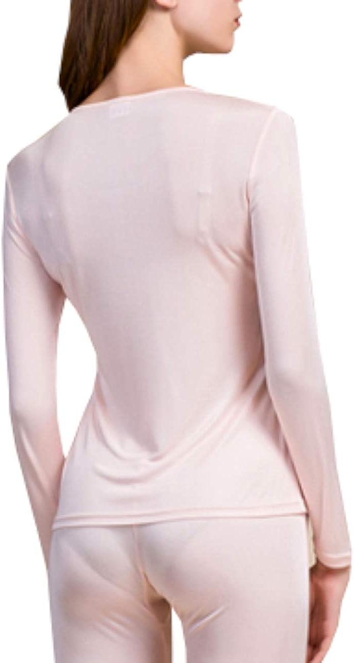 METWAY Women's Silk Long Johns |Silk Thermal Underwear Sets|Winter Silk Long Underwear