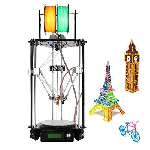 Ridgeyard 220V Delta 3D Printer Kossel Kit Rostock 3D stampante kit DIY G2s Dual estrusore LCD pannello di controllo auto level Geeetech alta precisione