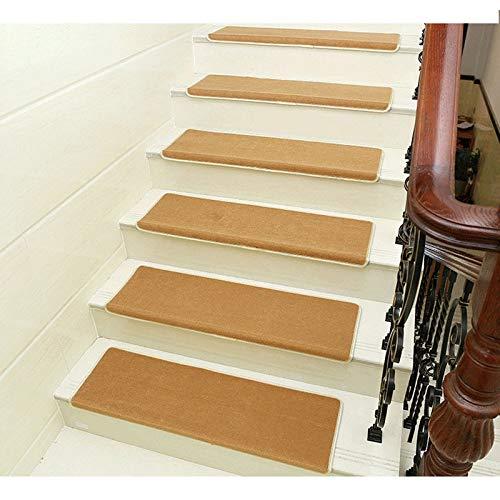 Escaleras almohadillas de alfombras para Autoadhesivo Almohadilla De La Escalera Alfombra De Escalera De Casa Square Thicken Step Rug for Superficie Lisa (Color : Camel(80x24x3cm) , Size : 10pcs) : Amazon.es: Hogar