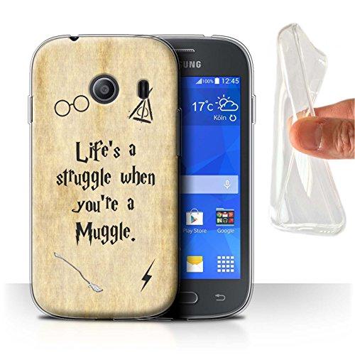 Hülle Für Samsung Galaxy Ace Style Schule der Magie Film Zitate Life's a Struggle Design Transparent Dünn Weich Silikon Gel/TPU Schutz Handyhülle Hülle
