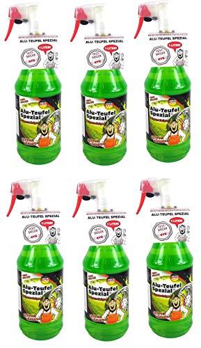 Tuga 6 x 1 Liter Alu-Teufel Felgenreiniger Spezial Säurefreies Aktivgel für Felgen und Radkappen. Biologisch abbbaubar