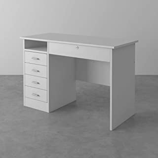 Tvilum Particle Board Function Plus Desk, 80163, White, H 75.6 x W 109.3 x D 48.5 cm, DIY