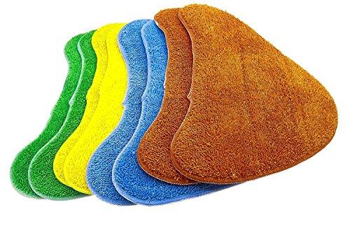 Green Label Confezione da 8 Panni in Microfibra Multicolori di Ricambio per le Scope a Vapore Vax (Alternativa a Tipo 1 Total Home)