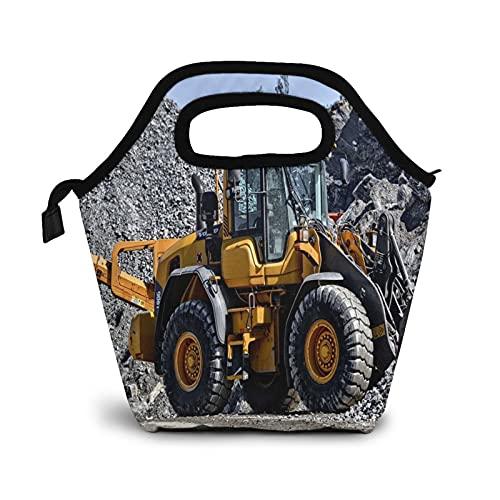 Bolsa Térmica Comida Bolsas De Almuerzo para Mujeres Hombres Niñas Niños Bolsa Isotérmica De Almuerzo Construcción de asfalto de tractor de trabajo