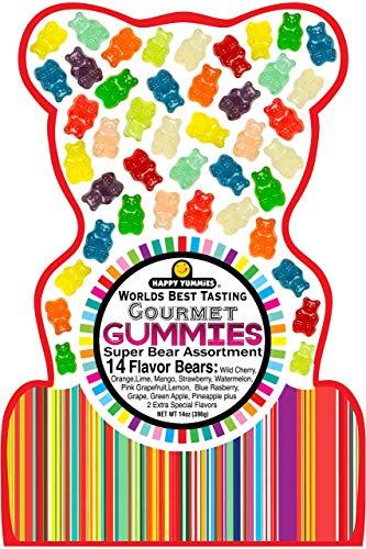 Happy Yummies Worlds Best Tasting Gourmet Gummies Super Bear Assortment 14oz