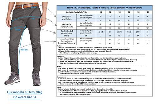 ITALYMORN Chinos Uomo Estivo Slim Fit Casual Pantaloni Tuta vestibilità Regolare (32, Cachi)
