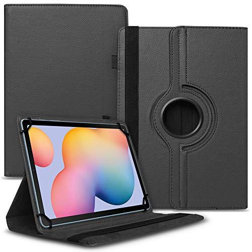 Funda para tablet Samsung Galaxy Tab A7 de 10,4 pulgadas, funda universal con función atril giratoria 360°, color negro