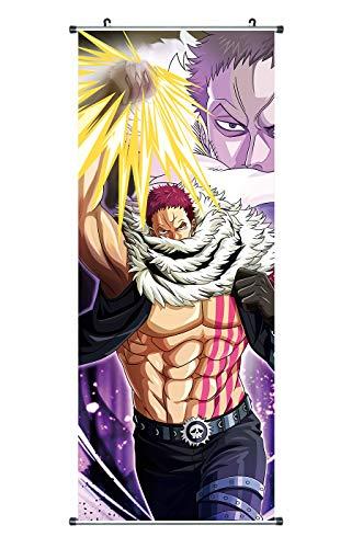 CoolChange Poster para enrollar /Kakemono de One Piece Hecho de paño, 100x40cm, Tema: Charlotte Katakuri