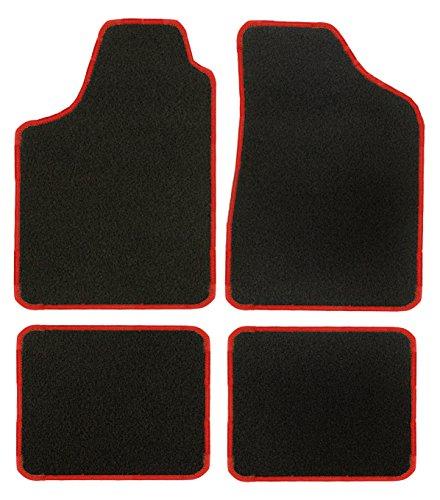 CaTex 30100150200GR Lux universele deurmatten, grijs/rood, 4 stuks