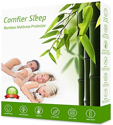 Comfier Sleep Protector de Colchón Impermeable 150 x 200 cm - Cubre Colchón Transpirable e Fresca, Funda de colchón de bambú, Hipoalergénico, Anti-Ácaros