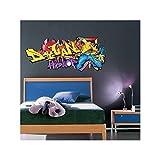 Sticker Tag Hip Hop Prénom personnalisable - Taille - 80 x 34 cm