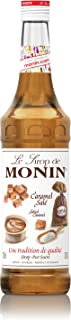 MONIN Salted Caramel Syrup, Rich and Creamy, Great for Coffee, Cocktails and Desserts, Gluten-Free, Vegan, Non-GMO, 700ml