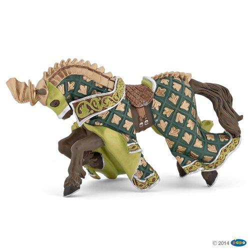Papo 39923 Welt des MITTELALTERS Pferd des Waffenmeisters Drache, Mehrfarben