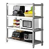120 x 40 x 150 cm, 4 baldas, estante de cocina, estante para especias, soporte...
