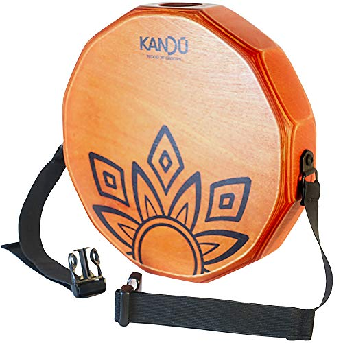 KTÄK -The First Handcrafted, Hand Drum Percussion, Two-Sound Cajón Body Snare, Portable Cajon by Kandu (orange)