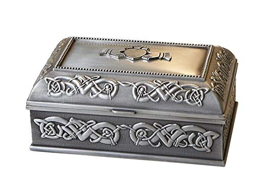 Claddagh Jewelry Box Celtic Knots Pewter Irish Made
