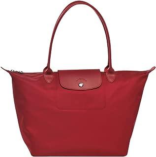 LongChamp Women's Le Pliage Neo Red Large Tote Handbag