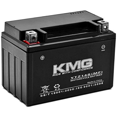 KMG 12V Battery for Honda 1300 VT1300CS CR CXA FURY 2009-2012 YTZ14S Sealed Maintenance Free Battery High Performance 12V SMF Replacement Powersport Battery
