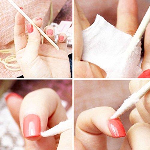 100pcs Nail Art Design Orange Wood Stick Cuticle Pusher Remover Manicure Care