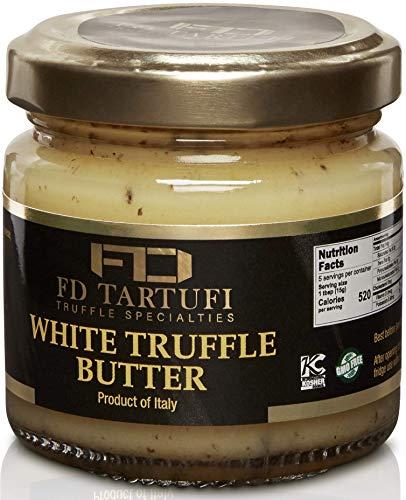 FD TARTUFI White Truffle Butter 80g (2.82oz) - (Tuber Borchii) Gourmet Sauce   Condiments   Made in Italy   non gmo   Italian Butter   White Truffles