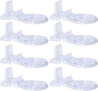 Zmmyr 8 Packs Acrylic Display Stands Tea Cup Saucer European Coffee Shelf Display Stand Holder Low Feet