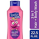 Suave Kids 3 in 1 Shampoo Conditioner Body Wash, Raspberry, 22.5 oz
