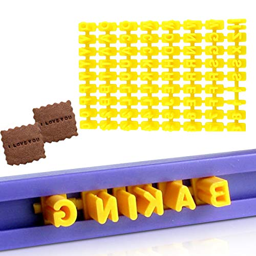 Keks-Stempel, Alphabet, Zahlen, Kuchen, Buchstaben, Keks-Stempel, Backen, Keksausstecher, 72 Stück