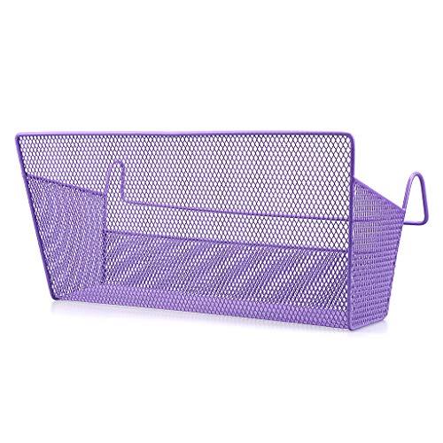 SUMNACON 1 cesta de almacenamiento para colgar en la mesita de noche, organizador de cama, organizador de escritorio, para el hogar, oficina, escuela, dormitorio, litera (morado)