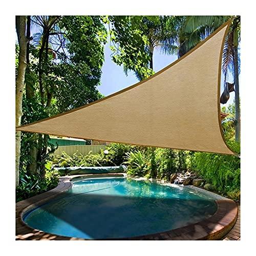 GuoWei Toldo Vela De Sombra, Triángulo Toldo Al Aire Libre con 85% Protección Rayos UV, Carpas De Protección Solar para La Piscina del Jardín del Patio, 3 Colores (Color : Beige, Size : 4x4x4m)