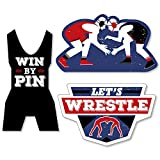 Big Dot of Happiness Own the Mat - Wrestling - DIY Shaped Birthday Party or Wrestler Party Cut-Outs - 24 Count