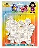 Hama 4583 Stiftplatten für Midi Perlen, Schmetterling, Blume und Puppe