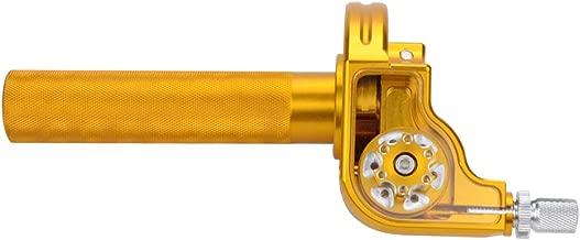 GOOFIT CNC Aluminum Universal 7/8'' Handlebar Grips Throttle Tube Sleeve Twist Clamp for CRF50 70 110 125 250 Dirt Pit Bike Golden
