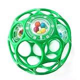 Oball - Rattle Spielzeug mit Rasselperlen in Tannengrün