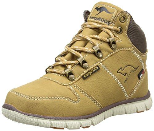 Kangaroos Bluerun 2098, Boots garçon - Beige (Wheat/Dk Brown 134), 35 EU