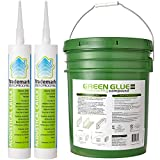 5 Gallon Tub of Green Glue Noiseproofing Compound and 2 Tubes Adhesive...