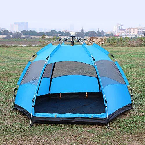 YANKK Tentes de Camping Automatiques en Plein Air, Tente Anti-UV Ultra Grande et étanche Dôme Facile à Installer, Tente Familiale avec Sac à Dos pour Randonnée, Camping, Voyages
