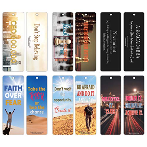 Price comparison product image Creanoso Inspiring Inspirational Bookmarks for Entrepreneurs (30-Pack) Sayings About Business Leadership Success Stocking Stuffers Gift for Businessman,  Businesswoman,  Executives,  Capitalists