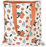 ASFINS Bolsa Tote Tela, Bolsa de Lona Mujer Bolsa Tote Bolsa de Algodón Reutilizable para Las Compras Salir, 40cm x 36cm (Mandarinas Naranjas)