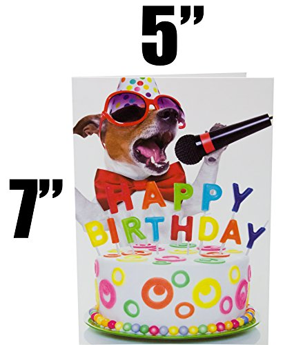 Beacon Streets Singing Dog Happy Birthday Cards, 5 Pack. This Pup Knows How to Get Down & Party! Premium Greeting Card & Envelopes Value Set. Great Funny Gift for Kids, Boys, Girls & Pet Lovers. Photo #6