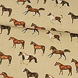 Tela decorativa de caballos – Precio por 0,5 metros