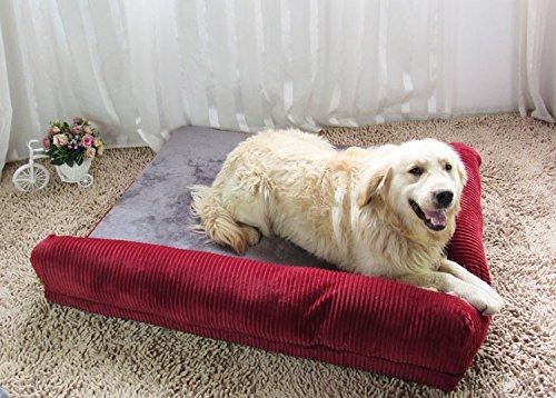 NANANANA Sofá cama grande para perros grandes, cojín lavable para perros grandes, nido para gatos y cachorros, alfombrilla para mascotas S, M, L, XL