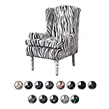 MWyanlan Ohrensessel Überwürfe Sessel-Überwürfe Bezug modern Muster Sesselbezug Elastisch Stretch Ohrensessel Husse Sesselhusse- Zebra