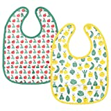 Ikea Bib, Fruit/Vegetables Pattern, Green Yellow(Pack of 2)