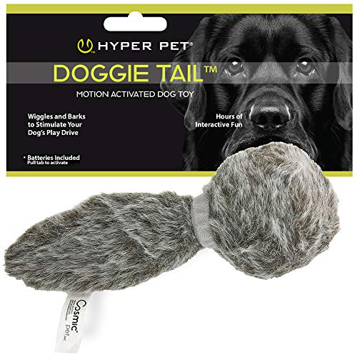 Hyper Pet Doggie Tail Interactive Plush Dog Toys(Wiggles