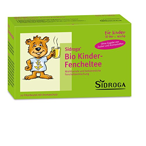 Sidroga Bio Kinder-Fencheltee – Heilpflanzentee für Kleinkinder und Babys bei Bauchschmerzen – 20 Filterbeutel à 2,0 g